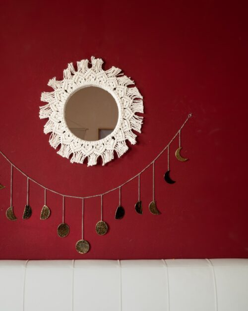 Specchio Mandala Bianco