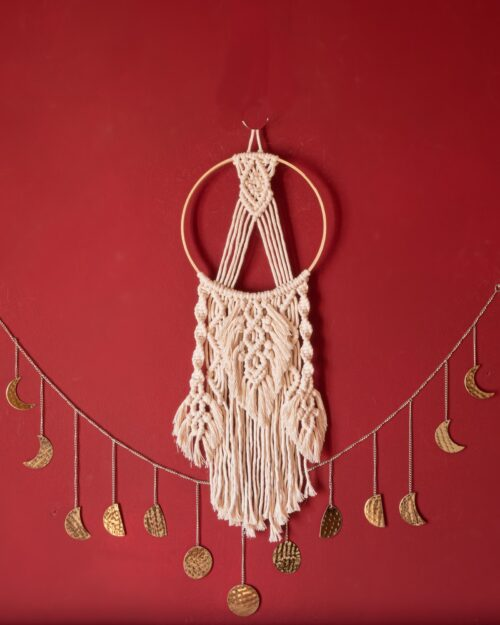 Dream catcher wall hanging macrame